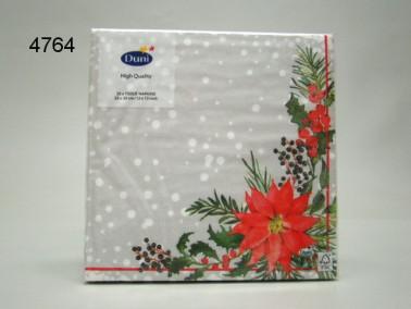 SERVET/X-MAS FLOWERS/33X33CM/64