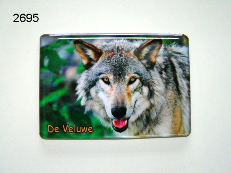 VELUWE/WOLF MAGNEET/8X5,5CM/70
