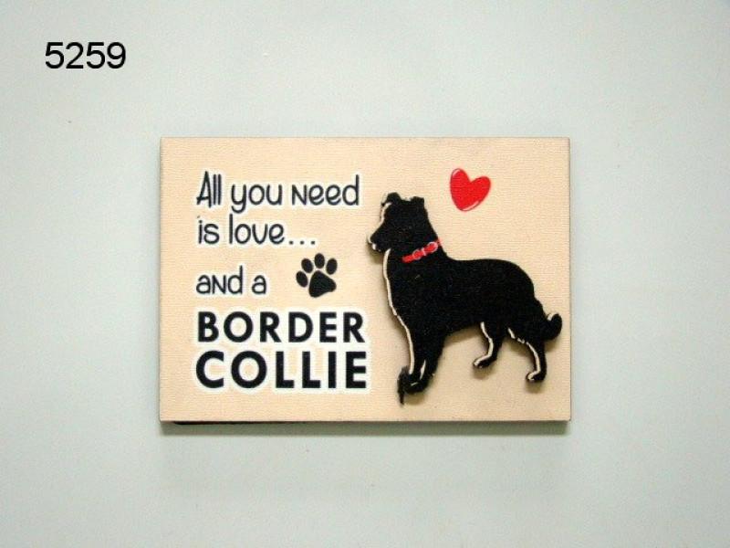 HOND BORDER COLLIE/MAGNEET/8X5,5CM/70