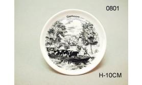 PORSELEIN ONDERZETTER/PENTEKENING-89