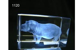 NIJLPAARD 3D GLASBLOKJE/5X5X8CM/115