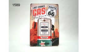 METAL SIGN ROUTE 66/20X30CM/35