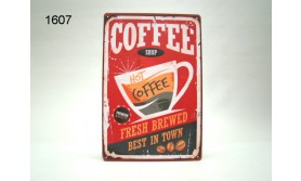 METAL SIGN COFFEE/20X30CM/35