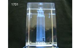 VUURTOREN TEXEL 3D GLASBLOKJE/115