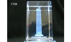 VUURTOREN TERSCHELLING 3D GLASBLOKJE/115
