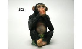 AAP CHIMPANSEE ZWIJGEN/PS/11CM/24