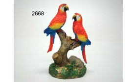 PAPEGAAI PS/DUO ROOD/14CM/65