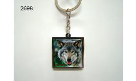 VELUWE/WOLF SLEUTELHANGER/70