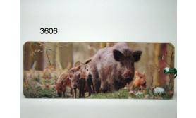 WILD ZWIJN MET BIGGEN 3D BOEKENLEGGER/106