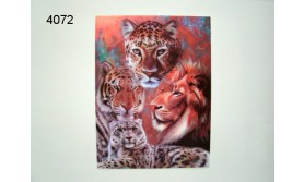 WILD CATS/3D POSTER 39X29CM/91