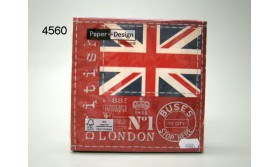 SERVET/BRITTISH FLAG/33X33CM/64