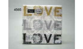 SERVET/LOVE MEETS PEACE/33X33CM/64