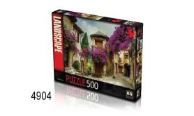 PUZZEL FLOWERED VILLAGE/500/135