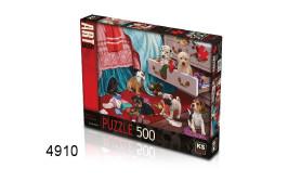 PUZZEL PUPPIES IN THE BEDROOM/500/135