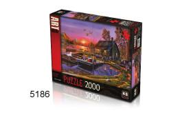 PUZZEL LAKESIDE COTTAGE/2000/135
