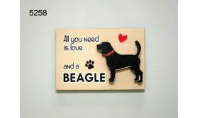 HOND BEAGLE/MAGNEET/8X5,5CM/70