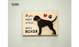 HOND BOXER/MAGNEET/8X5,5CM/70