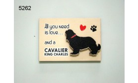 HOND CAVALIER KING CHARLES/MAGNEET/8X5,5CM/70
