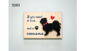 HOND CHIHUAHUA/MAGNEET/8X5,5CM/70