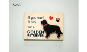 HOND GOLDEN RETRIEVER/MAGNEET/8X5,5CM/70