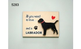 HOND LABRADOR/MAGNEET/8X5,5CM/70