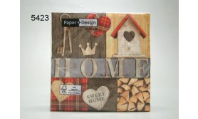 SERVET/HOME IS MY CASTLE/33X33CM/64