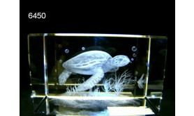 ZEESCHILDPAD 3D GLASBLOKJE/5X5X8CM/115