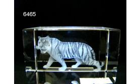 TIJGER 3D GLASBLOKJE/5X5/8CM/115