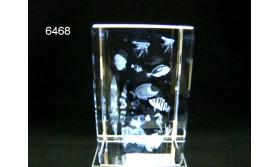 TROPISCHE VISSEN 3D GLASBLOKJE/5X5X8CM/115
