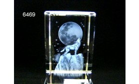 WOLF 3D GLASBLOKJE/5X5X8CM/115