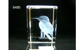 IJSVOGEL 3D GLASBLOKJE/5X5X8CM/115
