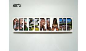 GELDERLAND LETTERMAGNEET HOUT/14,5X3,5CM/70