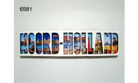 NOORD-HOLLAND LETTERMAGNEET HOUT/70