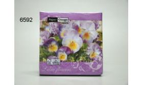 SERVET/LILAC FLOWERS/25X25CM/64