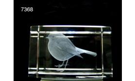 ROODBORST 3D GLASBLOKJE/5X5X8CM/115