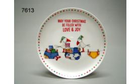 KERSTBORDJE 15,5CM/LOVE & JOY/78