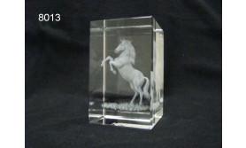 PAARD 3D GLASBLOKJE/5X5X8CM/115