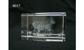 ZEBRA 3D GLASBLOKJE/5X5X8CM/115