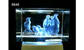 STOKSTAARTJE 3D GLASBLOKJE/5X5X8CM/115