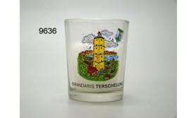 VUURTOREN SFEERLICHTGLAS MET KAARSJE/95